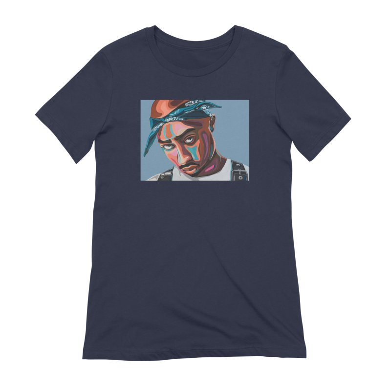 Tupac Women's Extra Soft T-Shirt by Carla Mooking Artist Shop