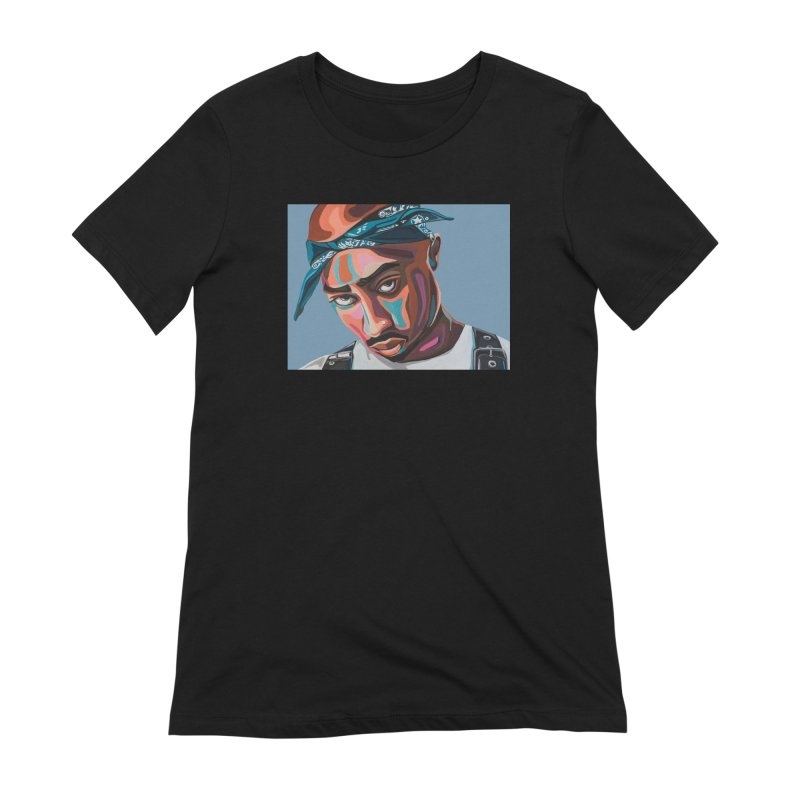 Tupac Women's Extra Soft T-Shirt by Carla Mooking Artist Shop