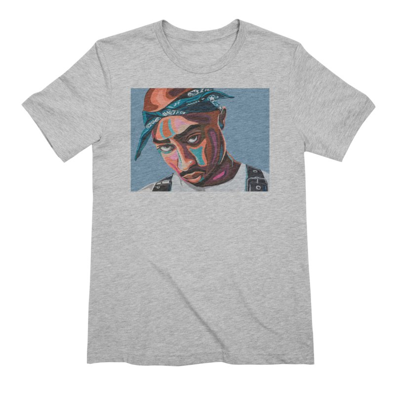 Tupac Men's Extra Soft T-Shirt by Carla Mooking Artist Shop