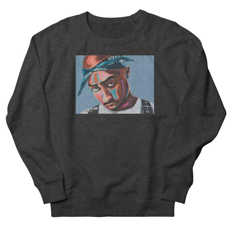 Tupac Women's French Terry Sweatshirt by Carla Mooking Artist Shop
