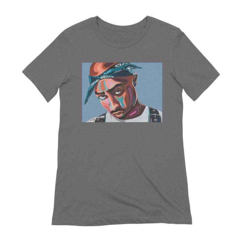 Tupac Women's T-Shirt by Carla Mooking Artist Shop