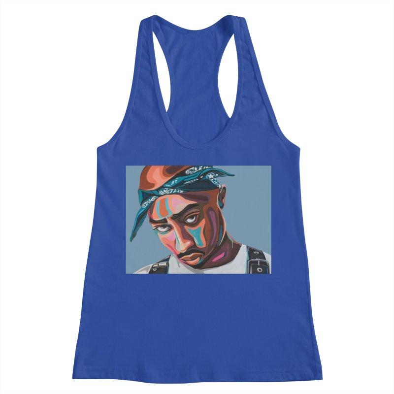 Tupac Women's Racerback Tank by Carla Mooking Artist Shop