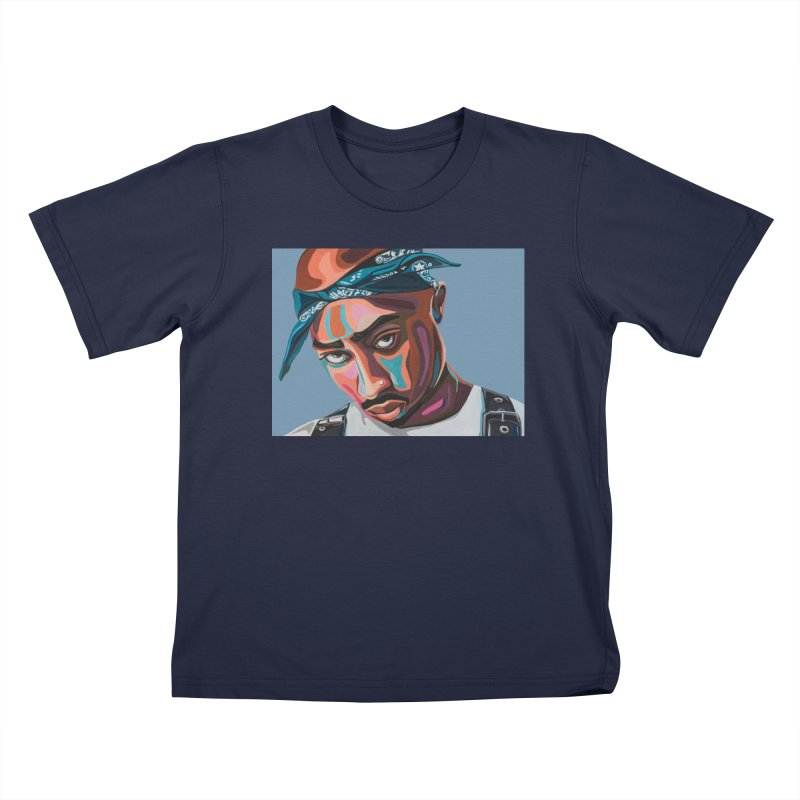 Tupac Kids T-Shirt by Carla Mooking Artist Shop