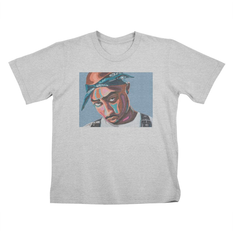 Tupac Kids T-Shirt by Carla Mooking Artist Shop