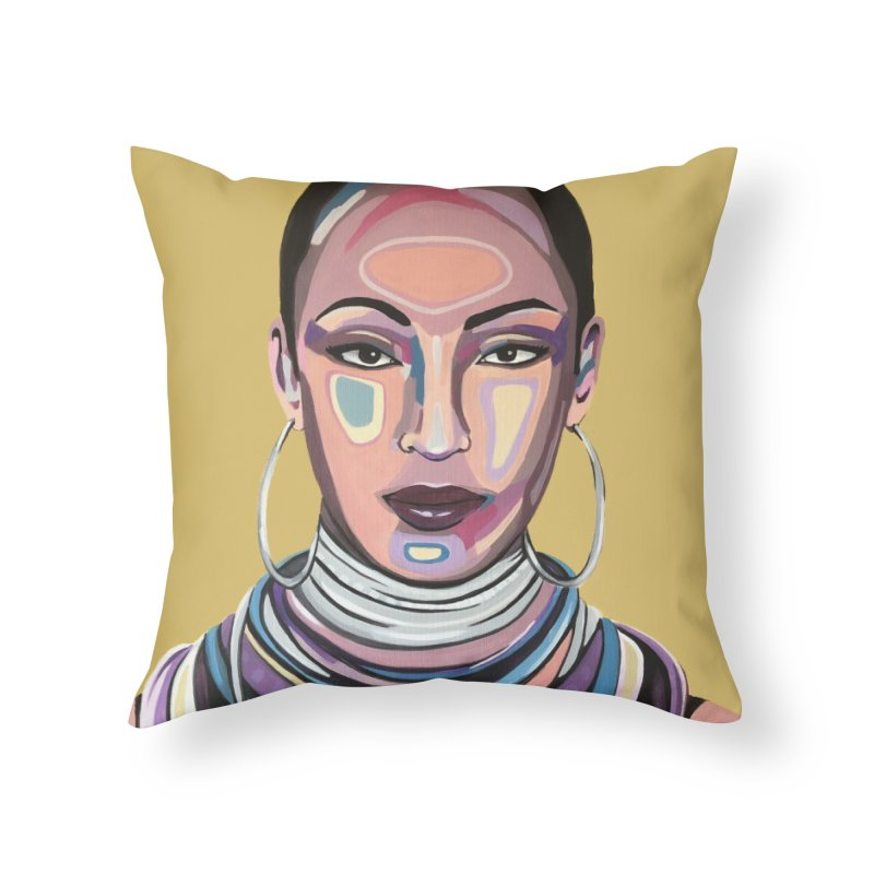 Sade Home Throw Pillow by Carla Mooking Artist Shop