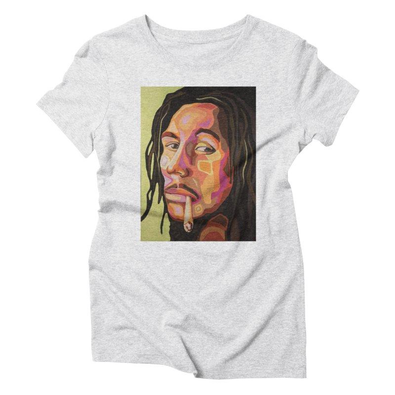 Bob Marley Women's T-Shirt by Carla Mooking Artist Shop