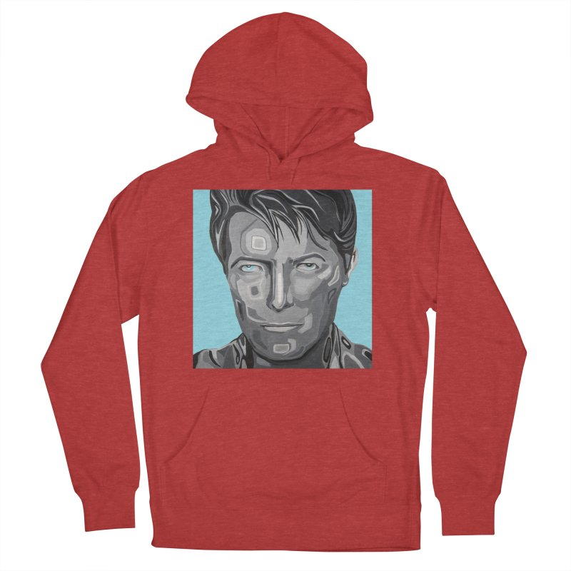 Bowie Men's French Terry Pullover Hoody by Carla Mooking Artist Shop