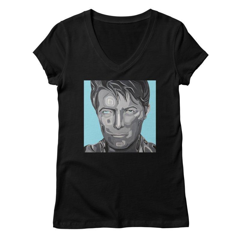 Bowie Women's V-Neck by Carla Mooking Artist Shop