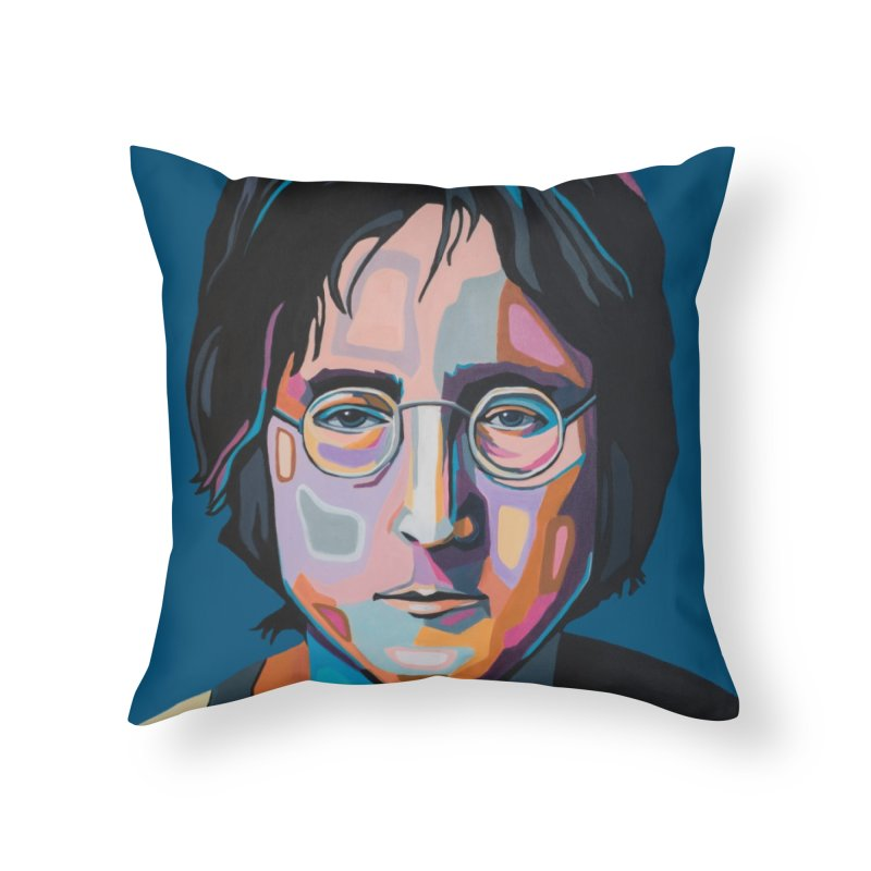 Lennon Home Throw Pillow by Carla Mooking Artist Shop