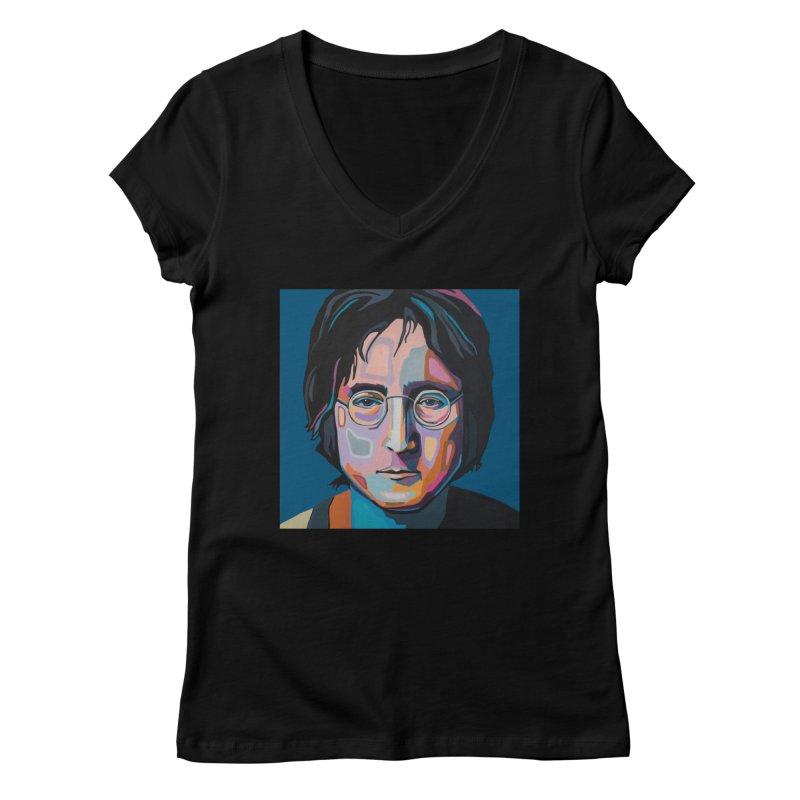 Lennon Women's V-Neck by Carla Mooking Artist Shop