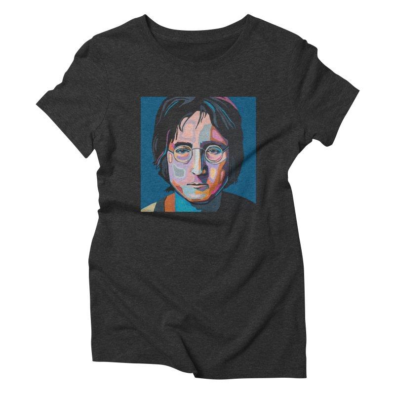 Lennon Women's Triblend T-Shirt by Carla Mooking Artist Shop