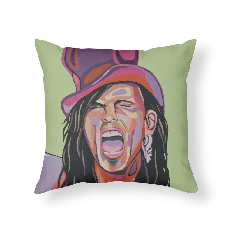 Steven Tyler Home Throw Pillow by Carla Mooking Artist Shop