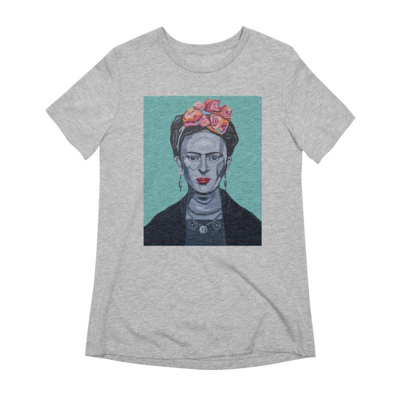 Frida Women's Extra Soft T-Shirt by Carla Mooking Artist Shop