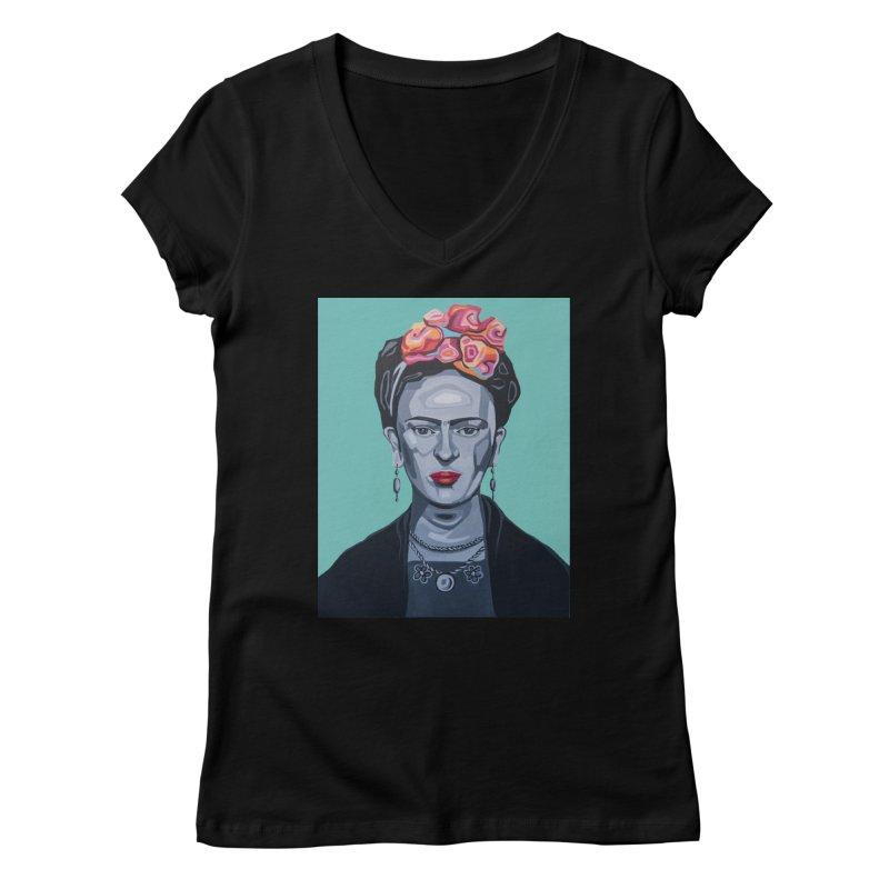 Frida Women's V-Neck by Carla Mooking Artist Shop