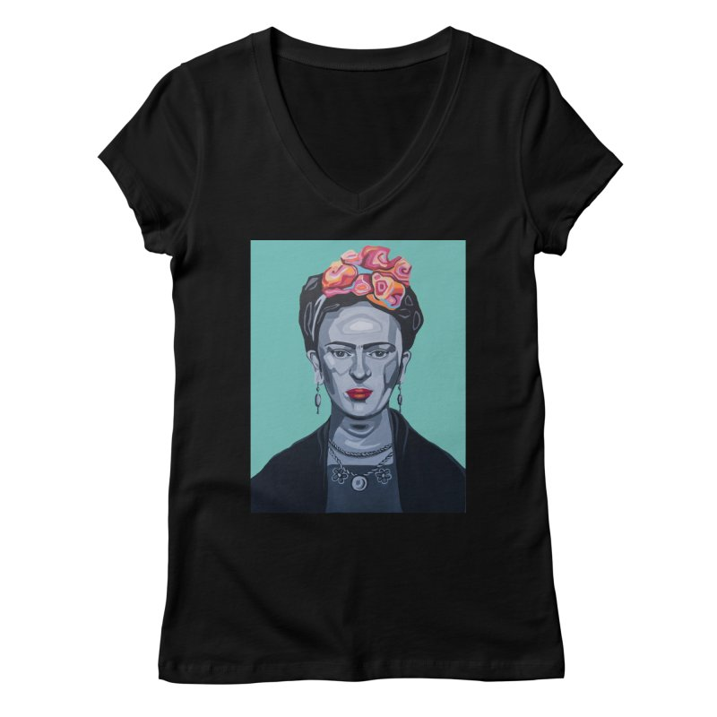Frida Women's V-Neck by Carla Mooking Artist Shop