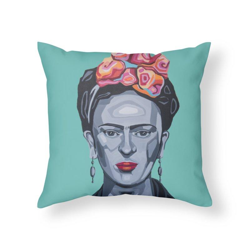 Frida Home Throw Pillow by Carla Mooking Artist Shop