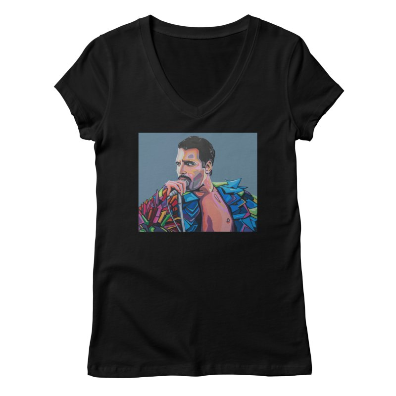 Freddie Women's V-Neck by Carla Mooking Artist Shop