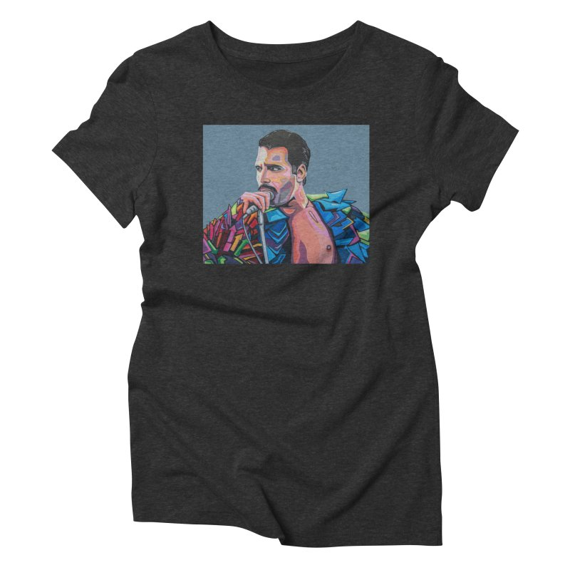 Freddie Women's Triblend T-Shirt by Carla Mooking Artist Shop