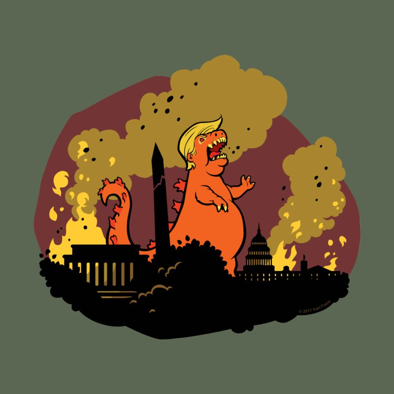 Trumpzilla - with background by Carl Frank's Artist Shop