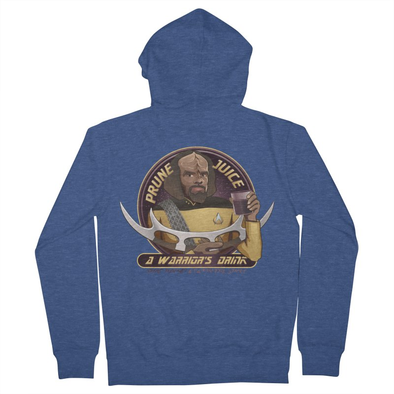 Worf's Warrior Drink - Star Trek the Next Generation Women's French Terry Zip-Up Hoody by Carl Huber's Artist Shop