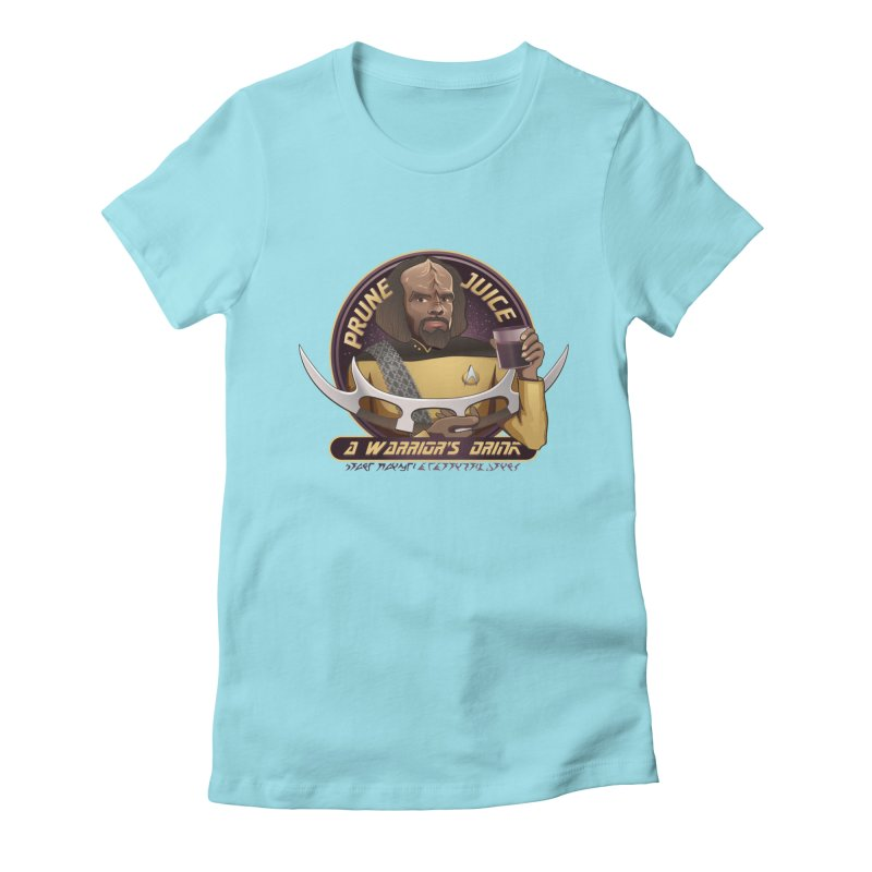 Worf's Warrior Drink - Star Trek the Next Generation Women's Fitted T-Shirt by carlhuber's Artist Shop
