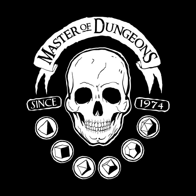 D&D Master of Dungeons Men's Zip-Up Hoody by Natural 20 Shirts