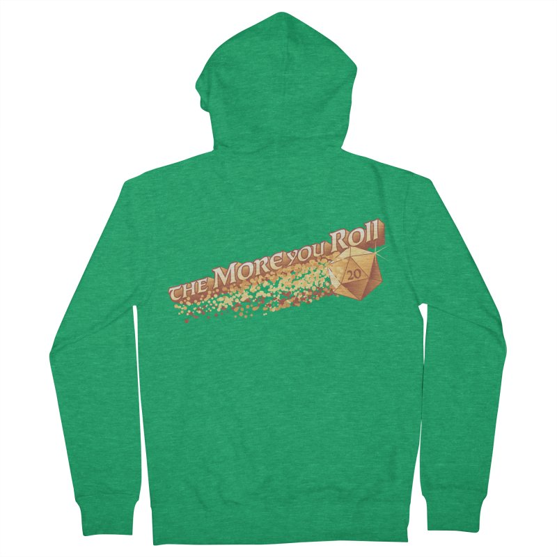 D&D The More You Roll Dice The More You Know Fantasy Men's Zip-Up Hoody by Natural 20 Shirts