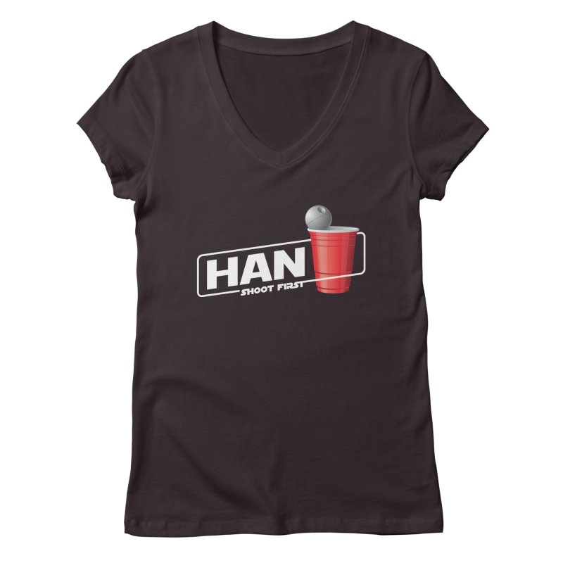 Han Solo Cup Women's V-Neck by carlhuber's Artist Shop