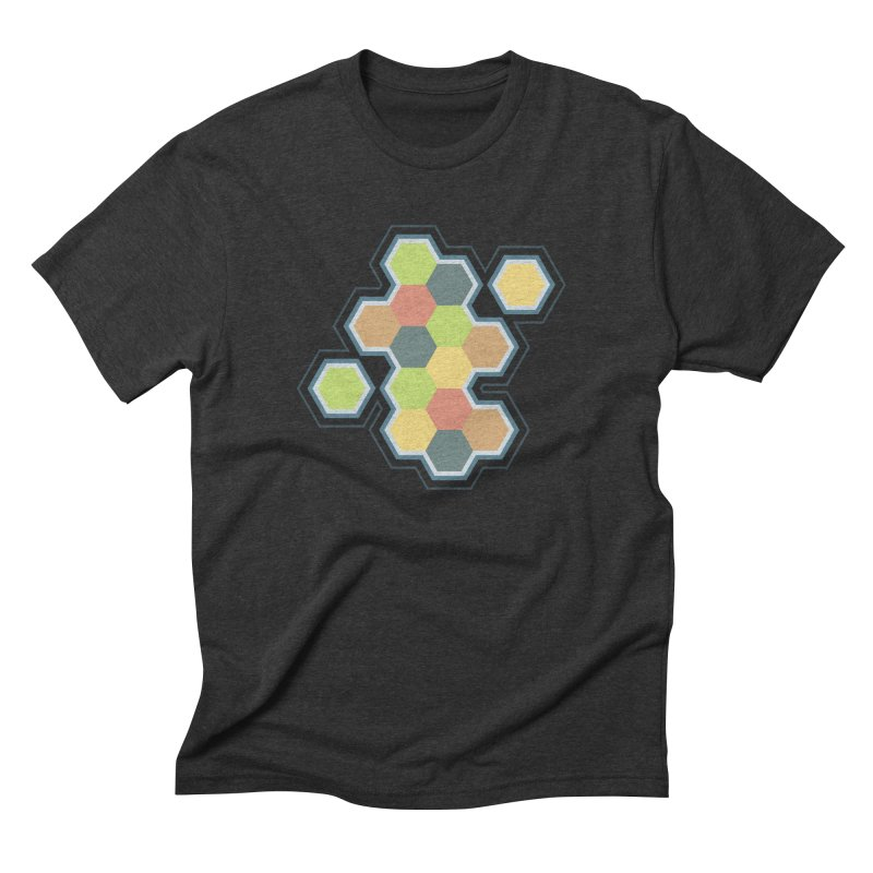 Boardgames Settlers of Catan Tribute Men's Triblend T-Shirt by carlhuber's Artist Shop