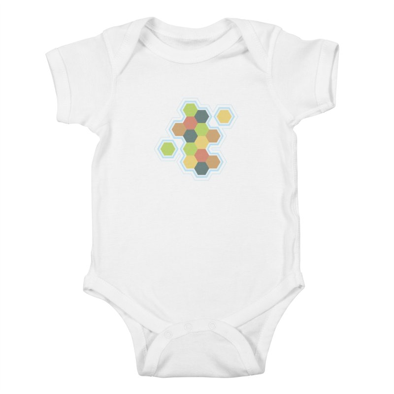 Boardgames Settlers of Catan Tribute Kids Baby Bodysuit by carlhuber's Artist Shop
