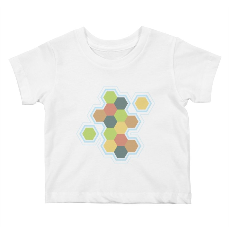 Boardgames Settlers of Catan Tribute Kids Baby T-Shirt by Carl Huber's Artist Shop