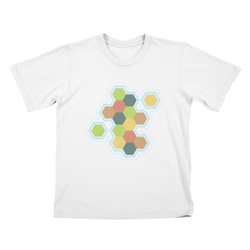 Boardgames Settlers of Catan Tribute Kids T-Shirt by Carl Huber's Artist Shop