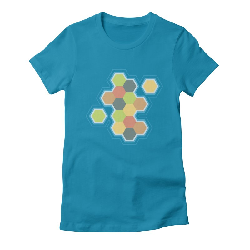 Boardgames Settlers of Catan Tribute Women's Fitted T-Shirt by carlhuber's Artist Shop