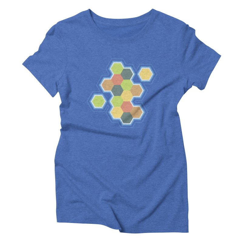 Boardgames Settlers of Catan Tribute Women's Triblend T-Shirt by carlhuber's Artist Shop