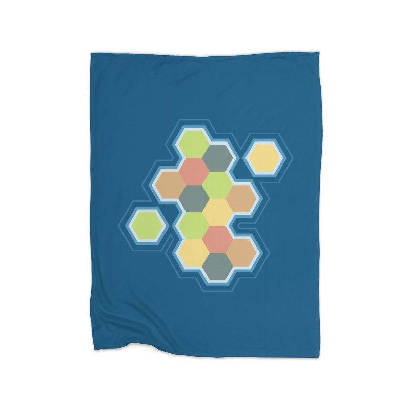 Boardgames Settlers of Catan Tribute Home Fleece Blanket Blanket by Carl Huber's Artist Shop