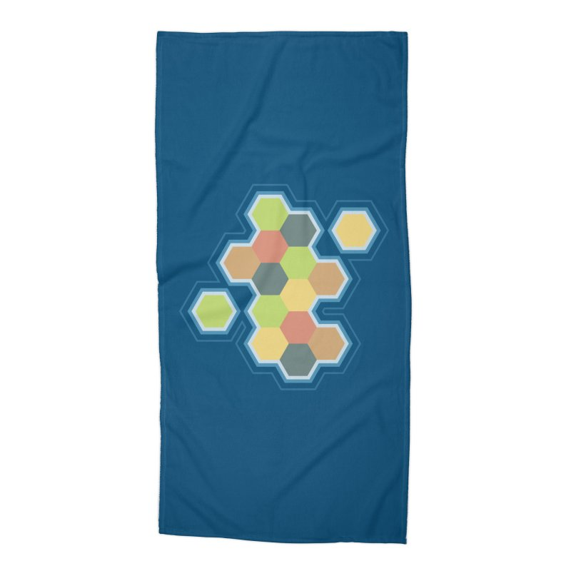 Boardgames Settlers of Catan Tribute Accessories Beach Towel by carlhuber's Artist Shop