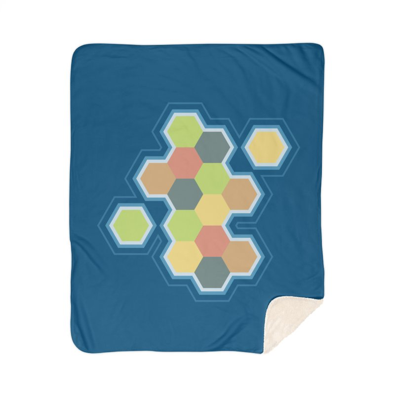 Boardgames Settlers of Catan Tribute Home Sherpa Blanket Blanket by Carl Huber's Artist Shop