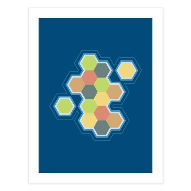 Boardgames Settlers of Catan Tribute Home Fine Art Print by Carl Huber's Artist Shop