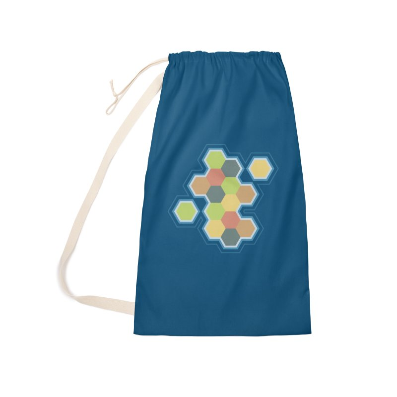 Boardgames Settlers of Catan Tribute Accessories Laundry Bag Bag by Carl Huber's Artist Shop