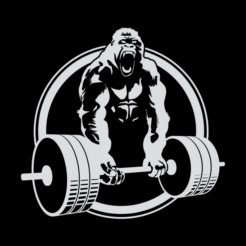 Gorilla Lifting Fitness Gym Tee by carlhuber's Artist Shop