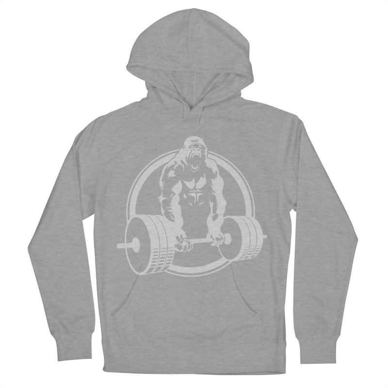 Gorilla Lifting Fitness Gym Tee Women's Pullover Hoody by carlhuber's Artist Shop