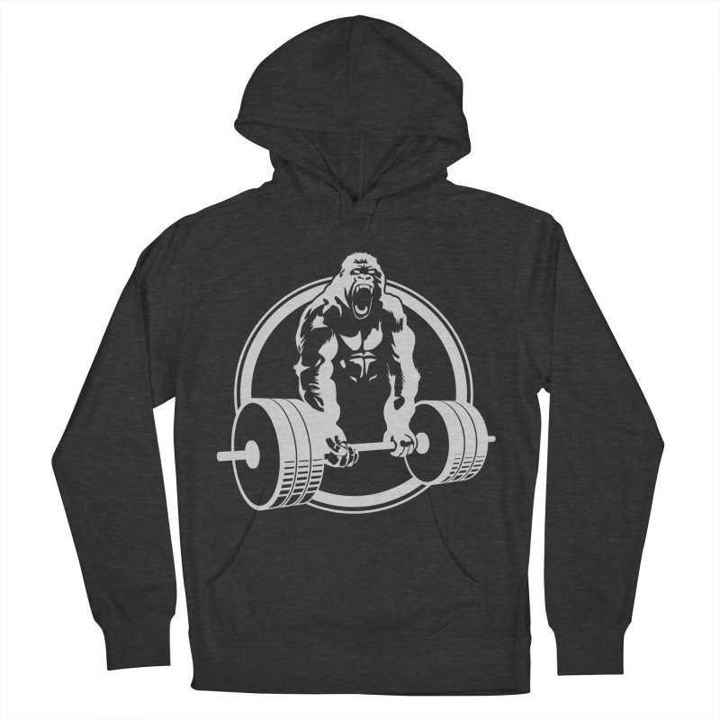 Gorilla Lifting Fitness Gym Tee Men's Pullover Hoody by carlhuber's Artist Shop