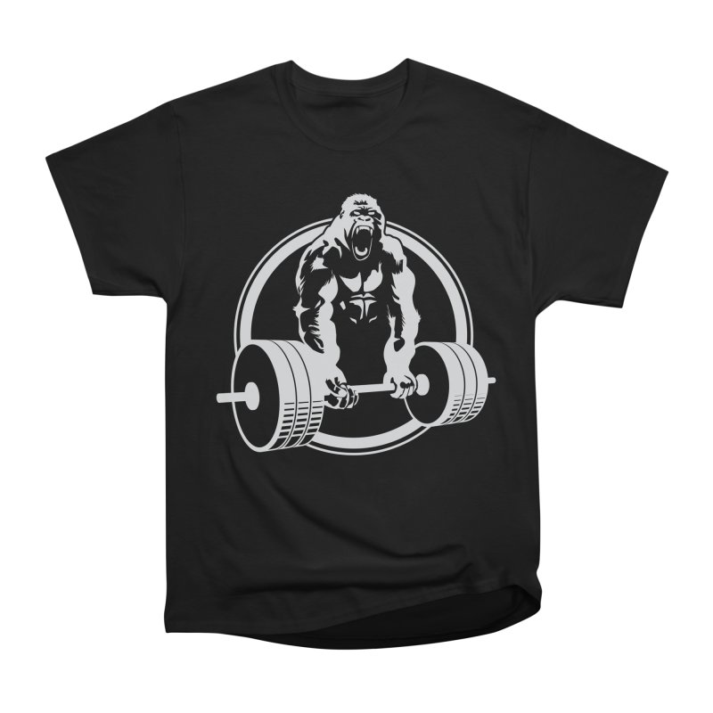 Gorilla Lifting Fitness Gym Tee Men's Heavyweight T-Shirt by carlhuber's Artist Shop
