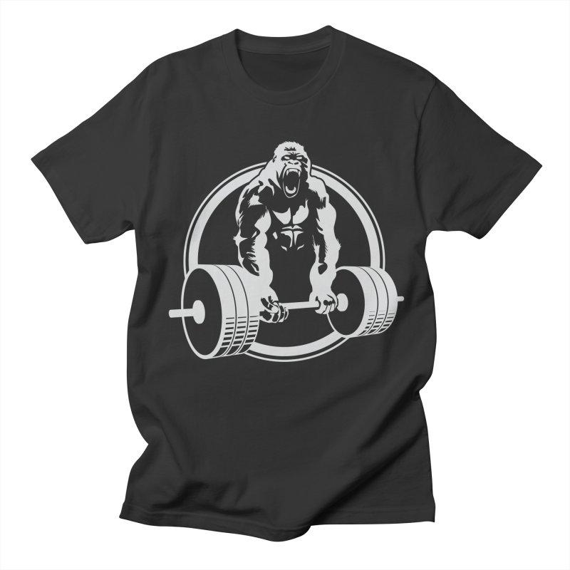 Gorilla Lifting Fitness Gym Tee Men's T-Shirt by carlhuber's Artist Shop