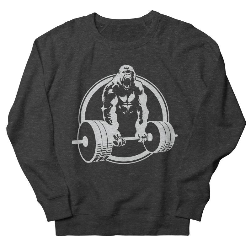Gorilla Lifting Fitness Gym Tee Women's Sweatshirt by carlhuber's Artist Shop