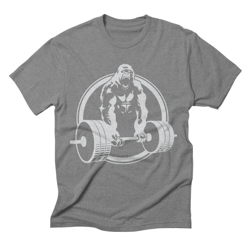 Gorilla Lifting Fitness Gym Tee Men's Triblend T-Shirt by carlhuber's Artist Shop