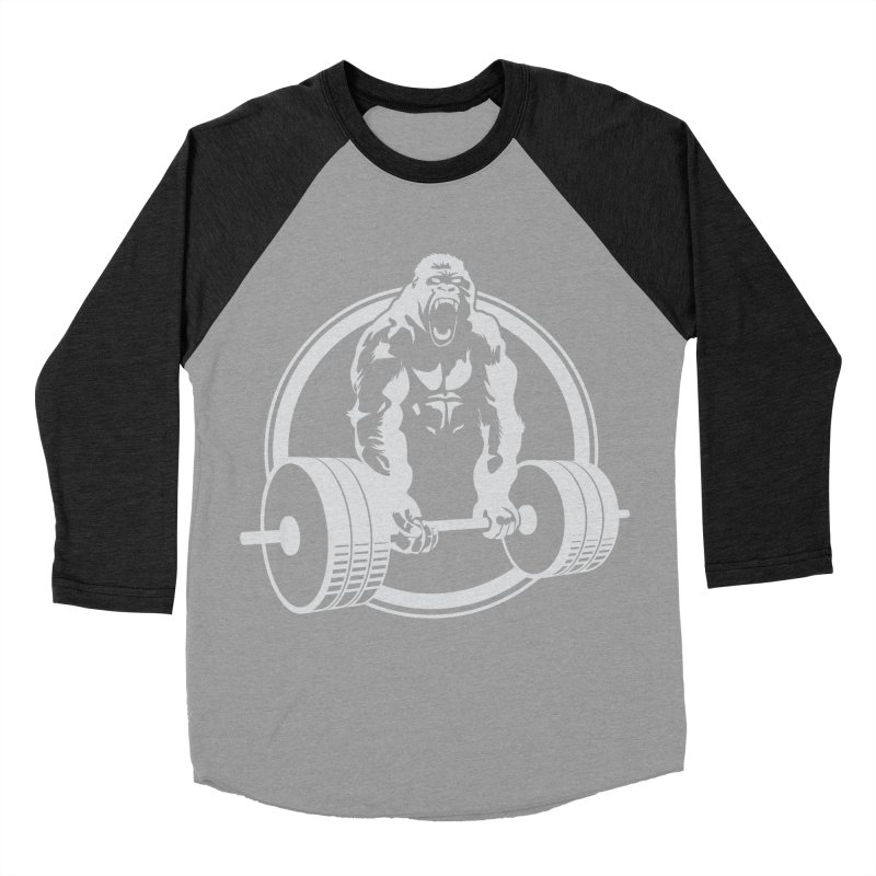 Gorilla Lifting Fitness Gym Tee Women's Baseball Triblend T-Shirt by carlhuber's Artist Shop