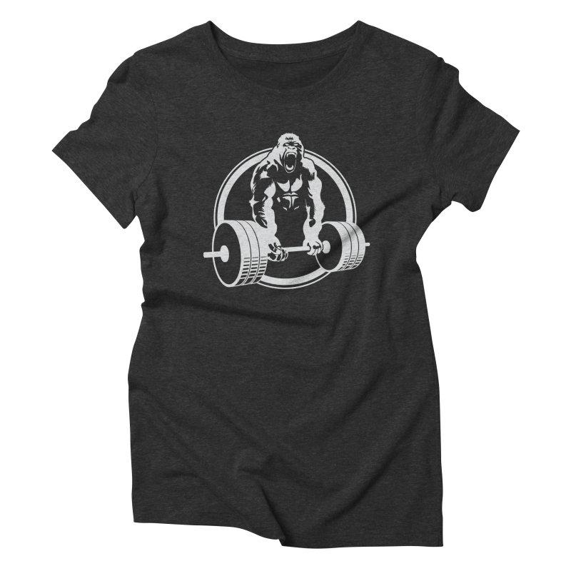 Gorilla Lifting Fitness Gym Tee Women's Triblend T-Shirt by carlhuber's Artist Shop