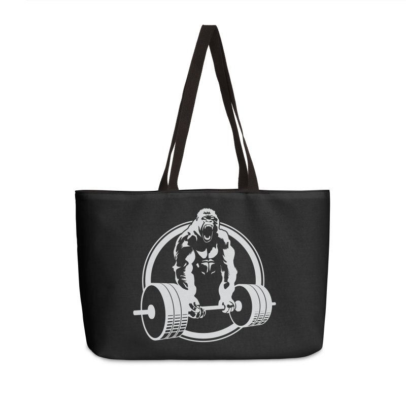 Gorilla Lifting Fitness Gym Tee Accessories Weekender Bag Bag by Carl Huber's Artist Shop