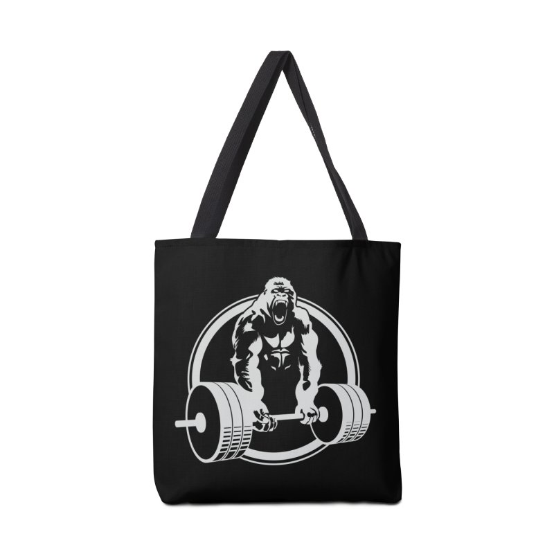Gorilla Lifting Fitness Gym Tee Accessories Bag by carlhuber's Artist Shop
